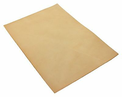 Full Grain Vegetable Tanned A4 Tooling Leather Leathercraft Natural 4oz 1.5mm