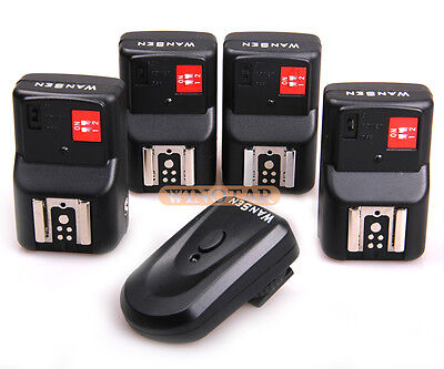 PT-04 GY 4 Channels Wireless Flash Trigger+4Receivers Yongnuo Canon Nikon Pentax