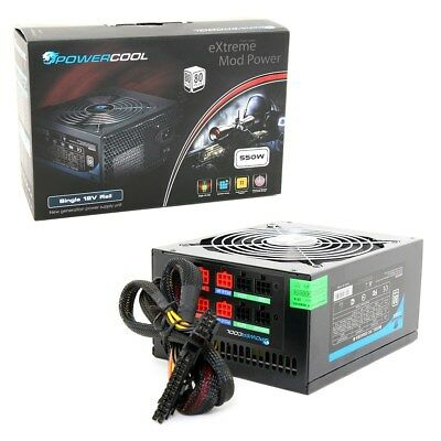 Powercool High Efficiency 550W Modular Power Supply 80 Plus