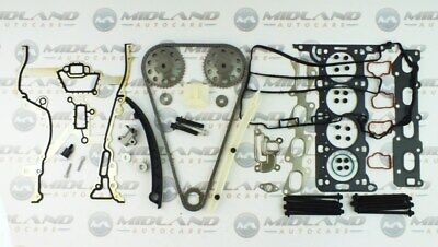 Vauxhall Astra 1.4 16V Z14Xep Twinport Head Gasket Set Bolts + Timing Chain Kit