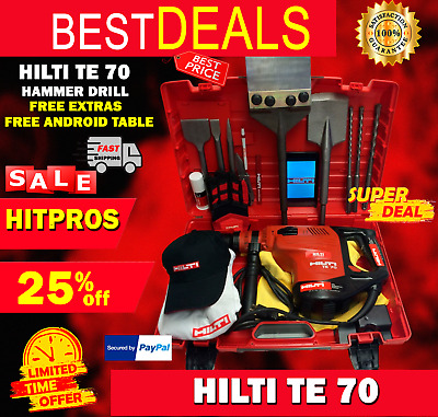 Hilti Te 70, Great Condition, Free Tablet, Chisels, A Lot Of Extras, Fast Ship
