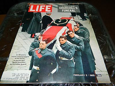 LIFE Magazine 2/5/1965 SIR WINSTON CHURCHILL'S FUNERAL, 21 PAGES IN COLOR