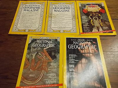 #43 of 44, MIXED LOT OF OLDER NAT GEO NATIONAL GEOGRAPHIC MAGAZINES, 1952, 1956+