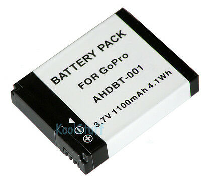 AHDBT-001 Replacement Battery Pack 1100mAh for GoPro HERO 2 1 Camera