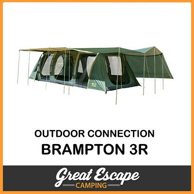 Outdoor Connection Brampton Dome Tent 12p Green And Blue