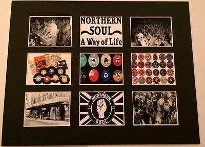 """NORTHERN SOUL MOD SKA DISCOGRAPHY PICTURE MOUNTED 14"""" By 11"""" READY TO FRAME"""