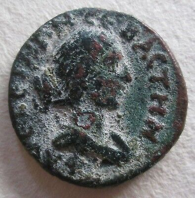 Roman Bronze Coin City Niapolis Faustina Ii Archaeology