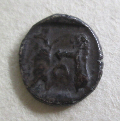 Greek Sidon Silver Obol Coin Archaeology