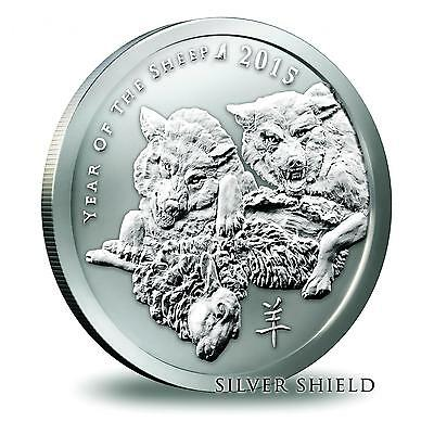 2015 Silver Shield Lunar Series Year Of The Sheep 1 oz .999 Silver BU USA Round