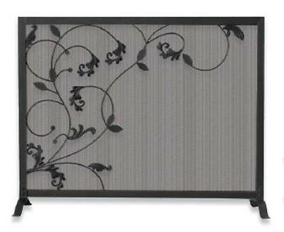 Blue Rhino 3 Fold Black Screen with Flowing Leaf Design S-1043 New