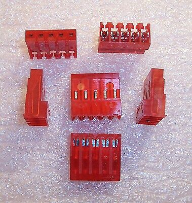 Qty (25) 640433-5 Amp 5 Position Mta-156 Idc Connectors 22Awg Closed End