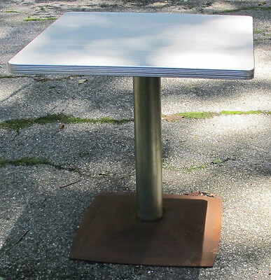 "Vintage Ice Cream (Soda Shop) Pedestal Table 30-1/4"" tall Archiectural Modern"