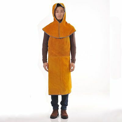 "1pc New 24"" W x 36"" L Leather Bib Welding Apron and 1pc hat free shipping"