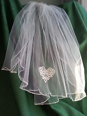 First Communion Veil with Celtic Heart