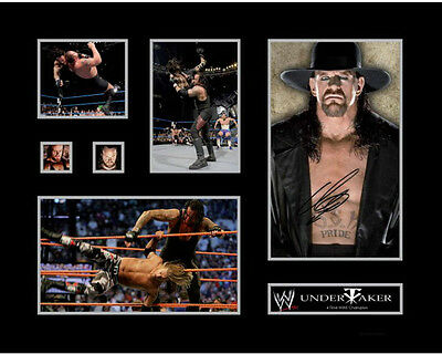 New The Undertaker Signed Limited Edition Memorabilia Framed