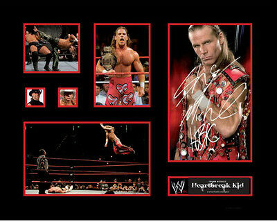 New Shawn Michaels Heartbreak Kid Signed Limited Edition Memorabilia Framed