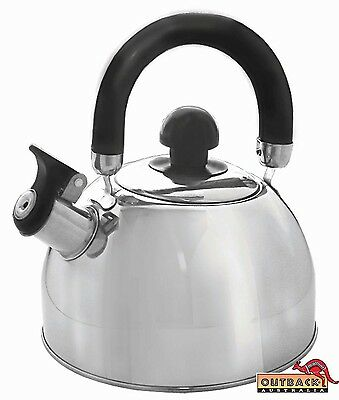 OUTBACK Australia's Stainless Steel Whistling Kettle 2.5L