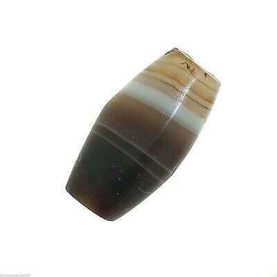 (0616) Bactrian Banded Agate Bead from China-Tibet,  唐朝