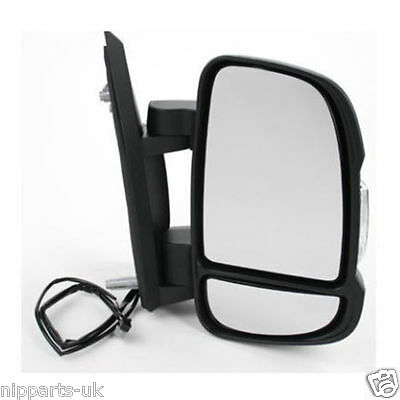 Fiat Ducato 06-14  Electric Black Door/wing Mirror O/s Driver Side Off Side