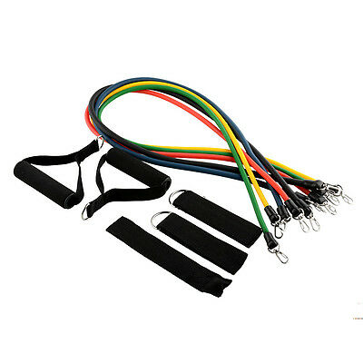 High Quality 11pcs Latex Tubes Resistance Bands for Exercise Yoga Fitness