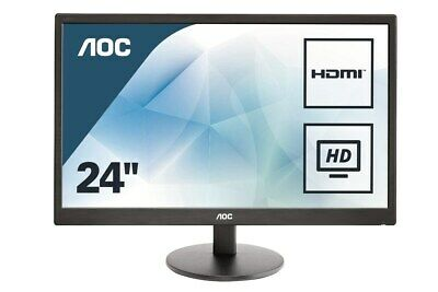 AOC E2470SWHE 23.6 inch LED Monitor - Full HD 1080p, 5ms Response, HDMI