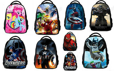 Backpacks - KIDS 28 Designs - Spiderman /Avengers/ Little Pony/ HowToTrainDragon