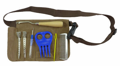 Plaiting Braiding Complete Kit with Belt for professional plaits 7 pc show horse