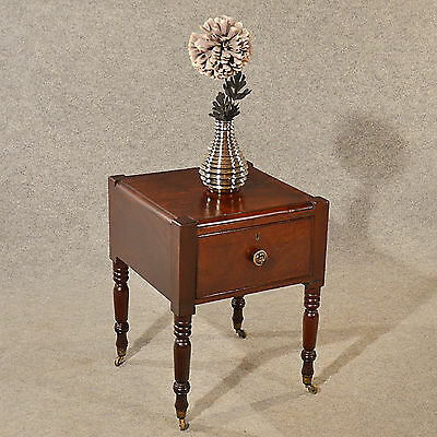 Antique Side Bedside Table Small Cabinet Georgian English Mahogany c1800