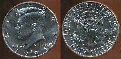 United States, 1991-D Half Dollar, Kennedy - Uncirculated