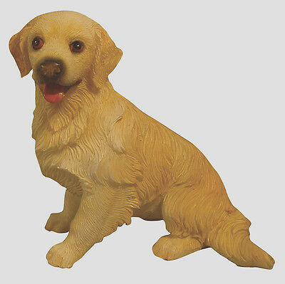 Dolls House 12th scale Resin Sitting Golden Retriever Dog