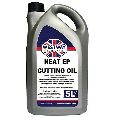 5L Neat Cutting Oil for Milling Turning Tapping Drilling 5 Litres