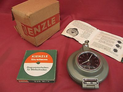 NOS Argo Kienzle Mechanical Recorder Clock for Vintage Commercial Industrial