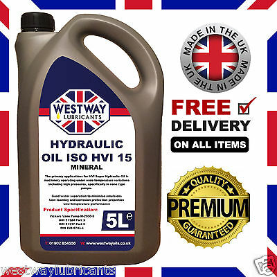 Hydraulic Oil ISO 15 HVI JCB Brake Fluid 5L 5 Litres