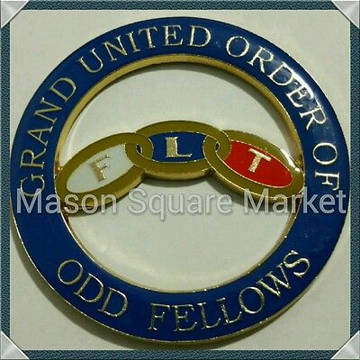 Grand United Order of Odd Fellows Cut-Out Car Emblem