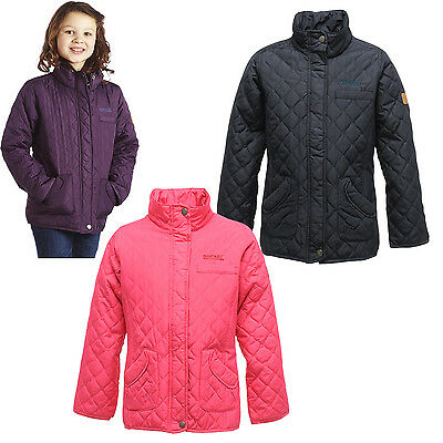 Regatta Phoebus Girls Quilted Jacket Kids Equestrian School Coat RKN028