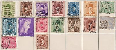 (T14-4) 1871-1940 Egypt mix of 16stamps (D)