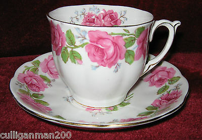 1 - Queen Anne Lady Alexander Rose Tea Cup and Saucer (2015-012)