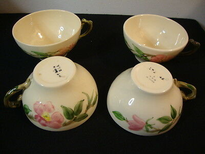 Franciscan China DESERT ROSE Set Of 4 coffee cups