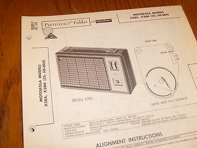 Motorola model X28A,X28N Photofact Folder,transistor radio