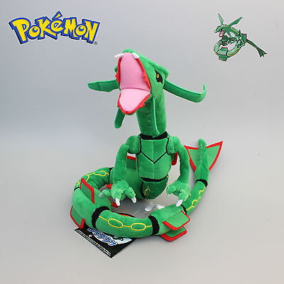 "80cm 32"" New Green Pokemon Rayquaza Soft Plush Stuffed Doll Toy Figure Gift"