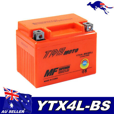 12V 4Ah GEL Battery ATV Quad Dirt Bike Scooter Mower 50/70/ 90/110/125cc YTX4LBS