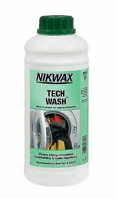 Nikwax Tech Wash 1 Litre Wash-in Cleaner Waterproof Outdoor Clothing & Equipment