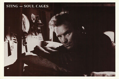 Poster :music: Sting - Soul Cages -Formerly With The Police - Free Ship   Rc38 D