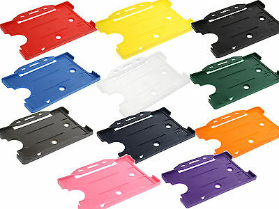 ID Card Holder Rigid Staff Work Pass Holder - CHOOSE YOUR COLOUR FREE DELIVERY