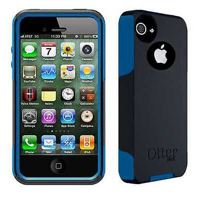OEM Otterbox Commuter Series Rugged Case For Apple iPhone 4 4S Black/Ocean Blue
