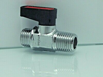 "Male Male Mini Ball Valve 1/4"" Bsp connector With Fibre washer ,air ride shut of"