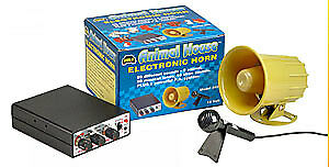 WOLO 345 Electronic Horn & P.A. System 50 Musical Tunes 10 Siren Sounds
