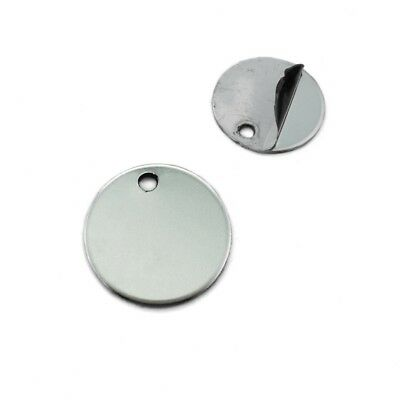 Stainless Steel 20mm Polished Round Blank Tags / Disc Pendants