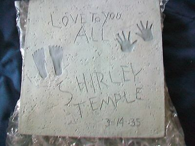 """Shirley Temple Stepping Stone Miniature Replica 8"""" Square Love To You All"""