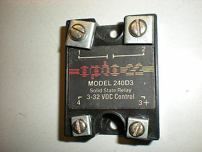 Opto 22 Model 240D3 Solid State Relay - Tests OK - #1